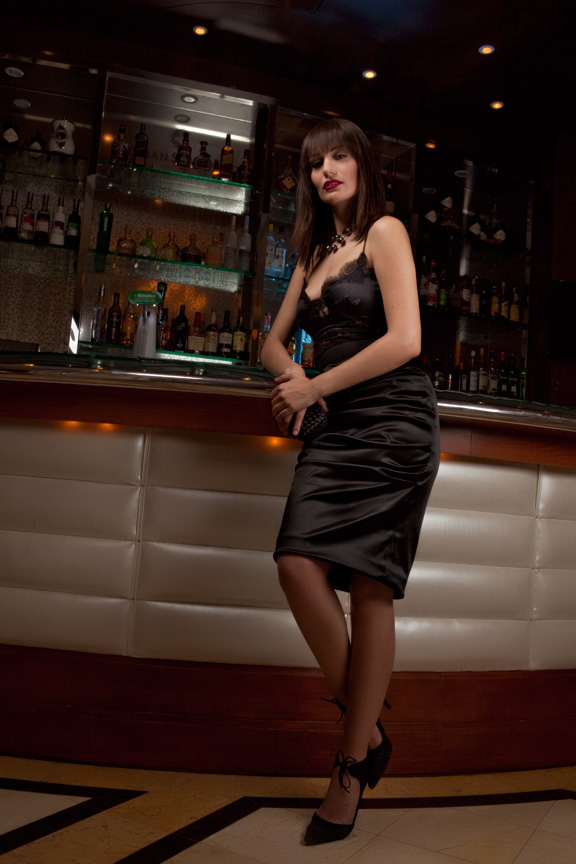 bar fashion photoshoot