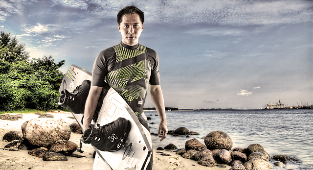 a portrait of a wakeboarder